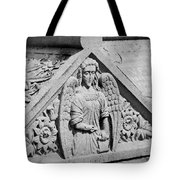 Angel With Scroll Carving Tote Bag