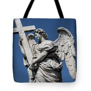Angel With The Cross Tote Bag