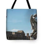 Angel With The Garment And Dice Tote Bag