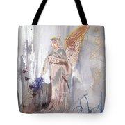 Angel Writing Doodles In Spirit Tote Bag