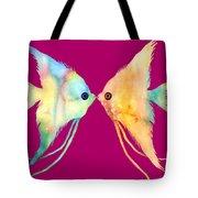 Angelfish Kissing Tote Bag by Hailey E Herrera