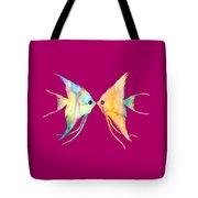 Angelfish Kissing Tote Bag