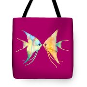 Angelfish Kissing Tote Bag