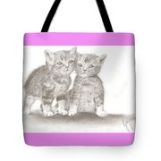 Angelic Kittens Tote Bag