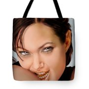 Angelina Jolie - Cold Seduction  Tote Bag