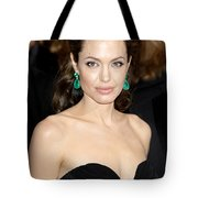 Angelina Jolie Tote Bag by Nina Prommer