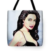 Angelina Jolie Portrait Tote Bag