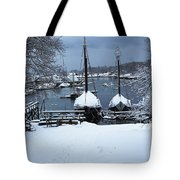 Angelique And Lewis R French In The Snow Tote Bag