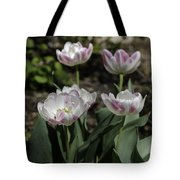 Angelique Peony Tulips Squared Tote Bag