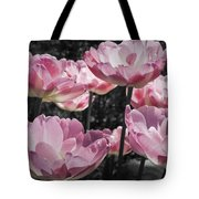 Angelique Peony Tulips Tote Bag