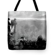 Angels And Brothers Black And White Tote Bag