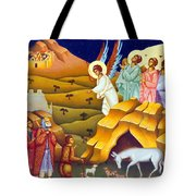 Angels And Shepherds Tote Bag