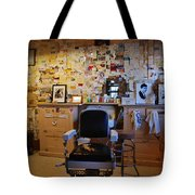 Angel's Barber Shop On Route 66 Tote Bag