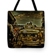 Angels On The Battlefield - Oil Tote Bag
