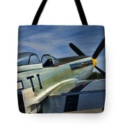 Angels Playmate P-51 Tote Bag