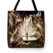 Angels Surround Cupid  Tote Bag