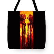 Angels Talk Tote Bag