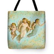 Angels Three Children Vintage Tote Bag
