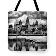 Angkor Wat Black Oil Paint  Tote Bag