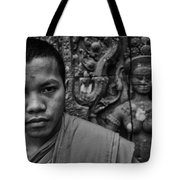 Angkor Watbuddhist Monk Portrait Tote Bag