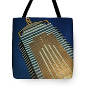 Angled View Of Central Plaza At Sunset Tote Bag