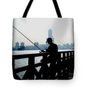 Angler In The Port City Of Kaohsiung Tote Bag