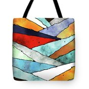 Angles Of Textured Colors Tote Bag