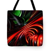 Angry Clown Abstract Tote Bag
