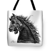 Angry Horse Tote Bag