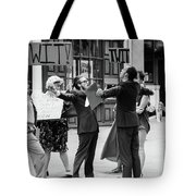 Angry Mob Demonstrating Tote Bag