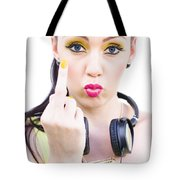 Angry Music Tote Bag