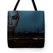 Angry Sea Tote Bag