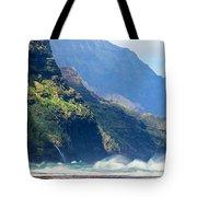 Angry Sea, Na Pali Coast Tote Bag