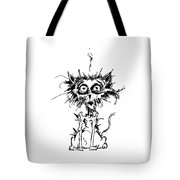 Angst Cat Tote Bag
