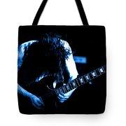 Angus Young On Guitar Tote Bag
