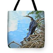 Anhinga In The Clouds Tote Bag