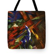 Animal Destinies The Trees Show Their Rings The Animals Their Veins Tote Bag