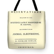Animal Electricity, Title Page Tote Bag