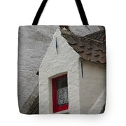 Animal Statue On The Dormer Roof Of A House In Bruges Belgium Tote Bag