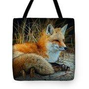 Animal - The Alert Fox  Tote Bag