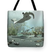 Animals And Floral Life Tote Bag