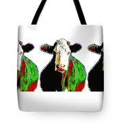 Animals Cows Three Pop Art Cows Warhol Style Tote Bag