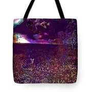 Animals Nature Clouds Meadow  Tote Bag