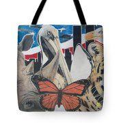 Animals Of Freedom  Tote Bag