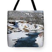 Animas River In January Tote Bag