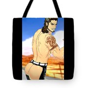 Anime Muscle Guys Boys Yaoi Male Characters Gay Art Gladiolus Tote Bag