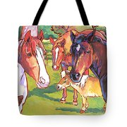Anjelica Huston's Horses Tote Bag