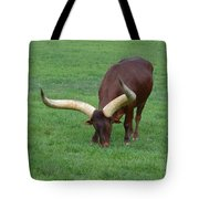 Ankole Cattle Eating Tote Bag