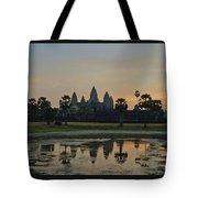 Angkor Wat Sunrise Pond Tote Bag