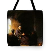 Anna And Blind Tobit Tote Bag